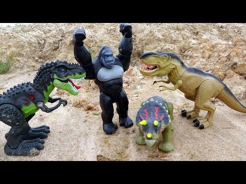 King Kong Dinosaurs Battle Tyrannosaurus Rex! Animal Planet Playset For Kids