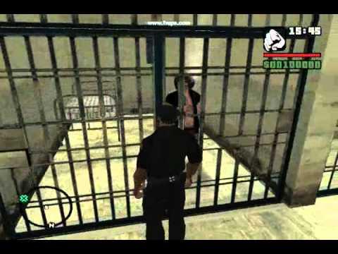 CJ trabajando como policia Grand Therft Auto San Andreas