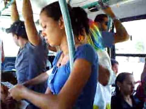 Retalhinho do INESPEC no ônibus lotado