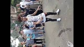 صالح فوكس بعد صلاة العيد في جامعة الدول مهرجان احنا بتوع ربنا 2016
