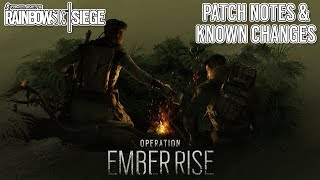 Major Changes in New Operation Ember Rise , Patch Notes - Rainbow Six Siege - Y4S3