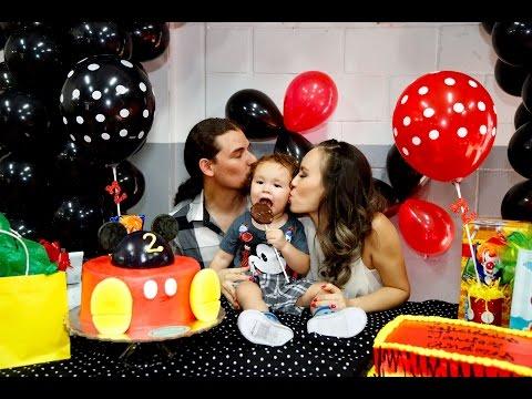 2 años Fiesta de Mickey Mouse para Javier Andrés.