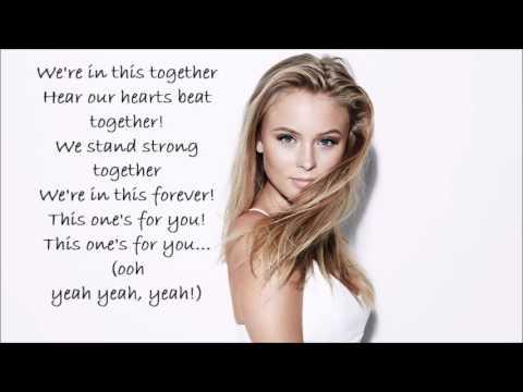David Gueta Feat Zara Larsson This One S For You Lyrics
