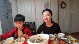 보글보글 끓인 소고기 만두  전골 Beef n mandu jongol