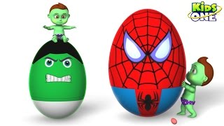 BABY HULK Blasting Superhero Surprise Eggs | Learn COLORS with Popping BALLs for Kids