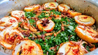 Anda Biryani Bombay Style recipe in Hindi