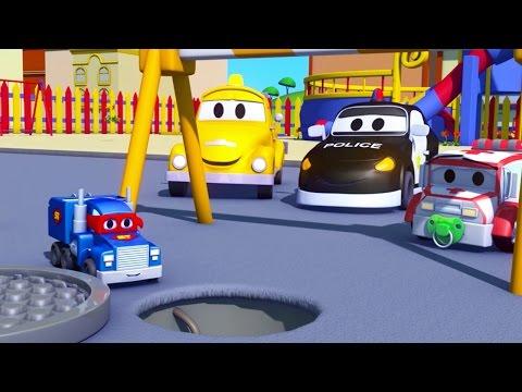 Carl o Super Caminhão e o Pequeno Caminhão na Cidade do Carro | Desenho animado para crianças