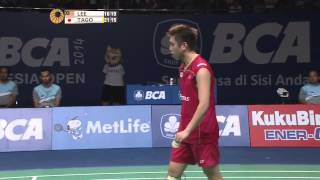 2014 BCA INDONESIA OPEN - SF - MS - Lee Chong Wei [1] (MAS) VS Kenichi Tago [4] (JPN)