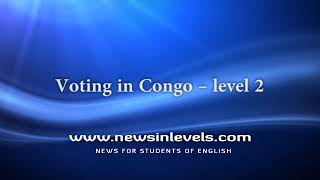 Voting in Congo – level 2