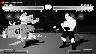 Roman Reigns vs Brock Lesnar WrestleMania 34 Parody Cartoon