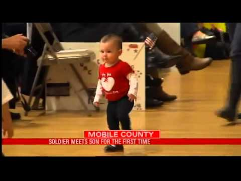 Soldier Meets Son for First Time: Families Welcome Home Troops
