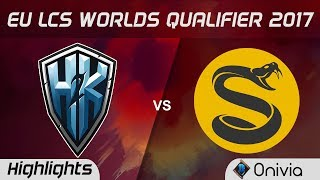 H2K vs  SPY Highlights Game 1 LCS Worlds Qualifier 2017 H2K Gaming vs  Splyce by Onivia