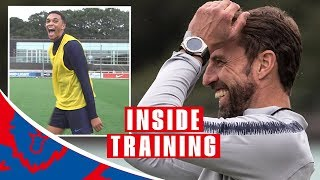 Trent Nails Crossbar Challenge and England Prepare for Spain! | Inside Training