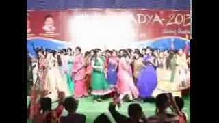 Students and Staff dancing in Ecsatcy - AADYA-2013 - Apoorva College Freshers' Day