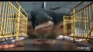 (720pHD): 3 Headed Shark Attack VFX By Steve Clarke & Paul Knott