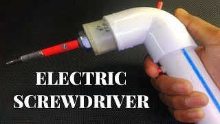 How to make electric screwdriver at home using DC motor