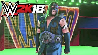 WWE 2K18 Gameplay   Kalisto vs Enzo Amore WWE Cruiserweight Championship Match