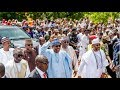 Download Video Download Buhari treks 800 metres as he cheers residents in Daura 3GP MP4 FLV