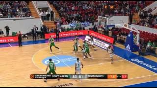 The last possession of Panathinaikos vs Unics Kazan