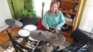 Mia / girl drummer (12-year old) / Rock and Roll / Led Zeppelin