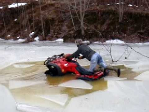 Foreman 500 Breaking Through Ice