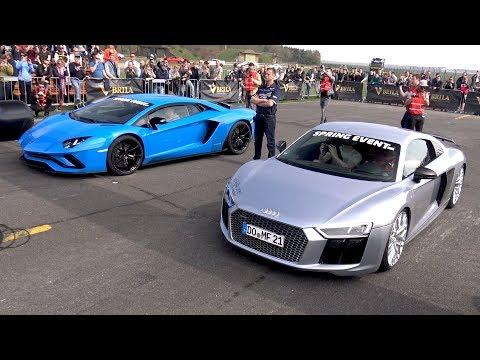 Xxx Mp4 Audi R8 V10 Plus Vs Lamborghini Aventador S 3gp Sex
