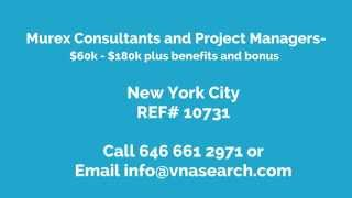 Murex Consultants and Project Managers NYC New York