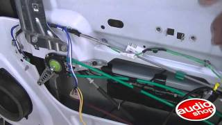 Conversion de vidrios manuales a electricos - Audioshop