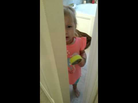 When a mom tries to go to the bathroom ...