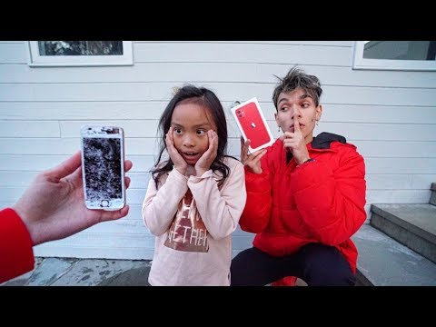 Destroying Our Little Sister s Phone Then Giving Her A iPhone 11