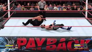 Payback 2016 : Romain reigns vs AJ Styles For the Wwe World heivyweight championchip