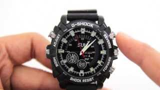 Review of Spy G-shock Full HD 1080p Night Vision Waterproof Watch with video demo