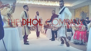 The DHOL Company: Grooms entrance with 4 x Dhol Drummers  |  Manor of Groves