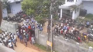 BJP(ABVP) Vs SFI Fight in the strike day of ABVP @KMM College (Trikakara Kerala)