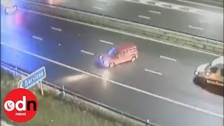 Drink-driver travels wrong way down motorway