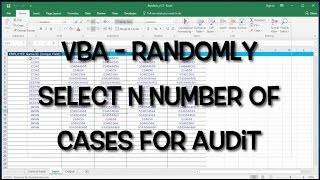 VBA/Excel Randomizer - Randomly select rows / records- vbatip#1