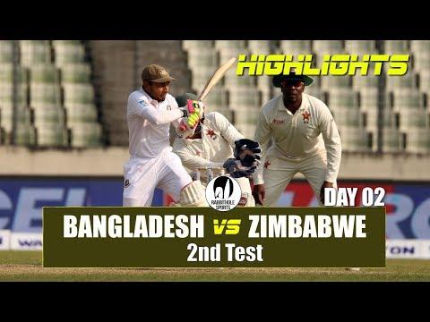 Xxx Mp4 Bangladesh Vs Zimbabwe Highlights 2nd Test Day 2 Zimbabwe Tour Of Bangladesh 2018 3gp Sex