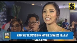 Kim Chiu's reaction on having 2 awards in a day
