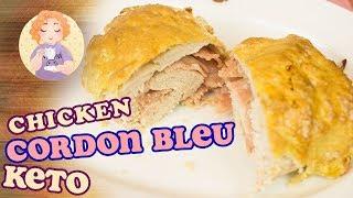 Keto Chicken Cordon Bleu Recipe - low carb gluten free no pork rinds in the oven