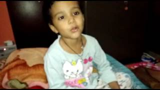 Eva Rana trying to sing gayatri mantra
