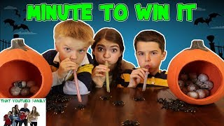 MINUTE TO WIN IT CHALLENGE - Halloween 2017 - Fun Kids Party Games / That YouTub3 Family