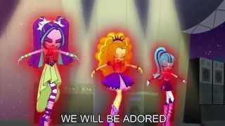 Welcome to the Show [With Lyrics] - My Little Pony Equestria Girls Rainbow Rocks Song