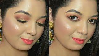 Makeup Tutorial using The New LAKME Illuminating Sabyasachi eyeshadow palette | French Rose