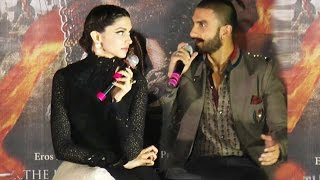 Deepika Padukone Gets ANGRY On Ranveer Singh @ Bajirao Trailer launch