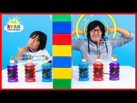 Twin Telepathy Slime Challenge Ryan vs. Daddy