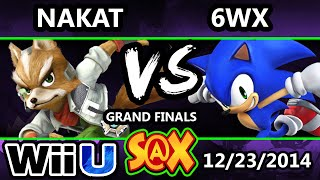 S@X - LoF | Nakat (Ness, Fox) Vs. 6WX (Sonic) SSB4 Grand Finals - Smash 4 Wii U