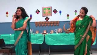 Marathi Natak  'NANAND-BHAVJAY' by Purnima Chaudhari & Prathibha Jagtap at Diwali 2015, Winnipeg