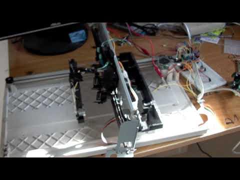 CNC manual usando Escaner e Impresora
