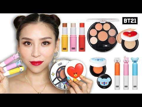 Trying BTS Makeup BT21 X VT Cosmetics 👍 or 👎