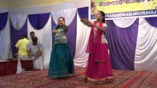 SNEHA NAIR AND AANGHA DANCING ON NSS DELHI ONAM FESTIVAL